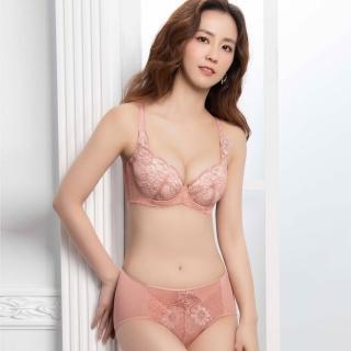【Swear 思薇爾】撩波無拘束之花系列H罩蕾絲包覆大罩女內衣(萩金膚)