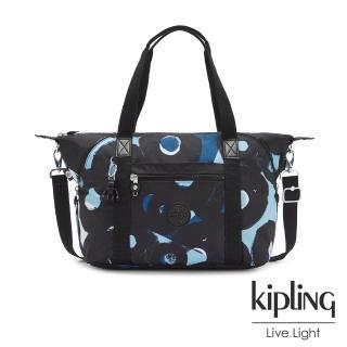 【KIPLING】童趣塗鴉印花手提側背包-ART
