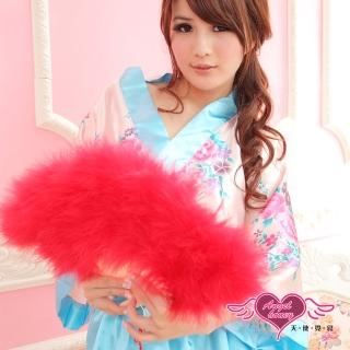【AngelHoney天使霓裳】旗袍專用羽毛扇 角色扮演(紅F)