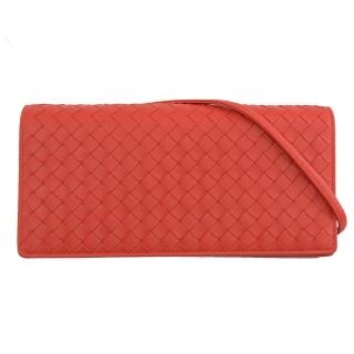 【BOTTEGA VENETA 寶緹嘉】WOC 經典款編織手拿長夾式斜背包(亮紅)