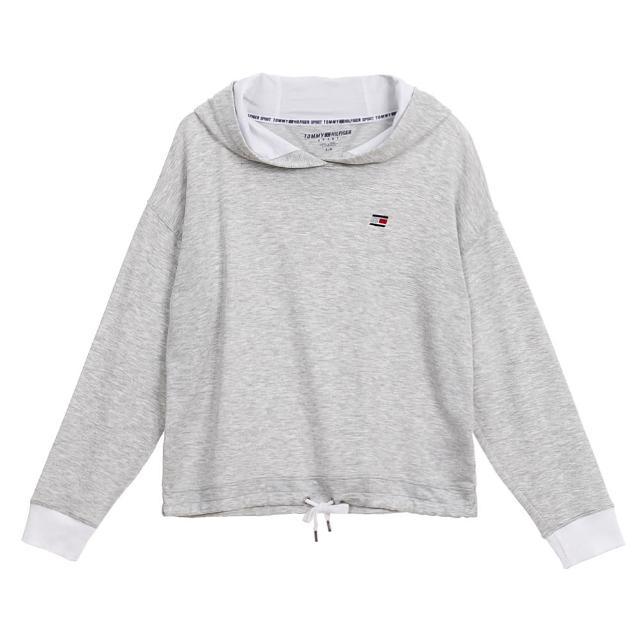 【Tommy Hilfiger】LOGO/拼接色/抽繩連帽T恤上衣大學T-女款 多色任選(平輸品)