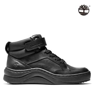 【Timberland】女款黑色全粒面中筒運動靴(A21N6001)/