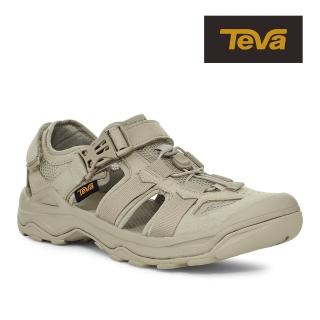 【TEVA】原廠貨 男 Omnium Faux Suede 護趾水陸機能涼鞋/雨鞋/水鞋(灰褐色-TV1116202PLTP)