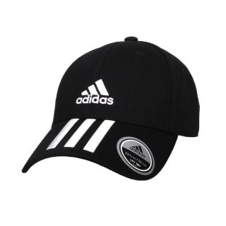 【adidas 愛迪達】運動帽-帽子 防曬 遮陽 愛迪達 純棉 黑白(FK0894)