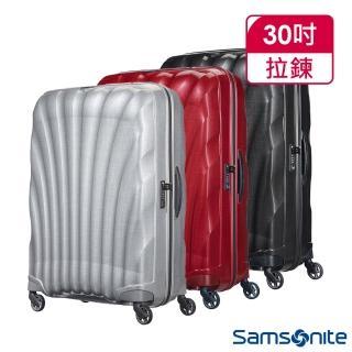 【Samsonite 新秀麗】30吋Cosmolite Curv材質超輕量貝殼硬殼行李箱(三色任選)
