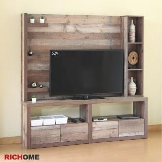 【RICHOME】奈德工業風180CM180CM高視聽櫃/電視架/電視櫃/收納架/置物架/客廳櫃(可擺放大型液晶電視)