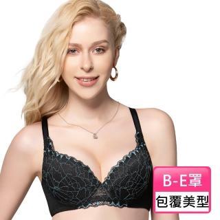 【Swear 思薇爾】伊麗絲系列B-E罩蕾絲包覆女內衣(黑色)