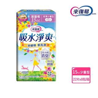 【來復易】吸水淨爽輕薄少量型22片 x 8包/箱(漏尿專用)