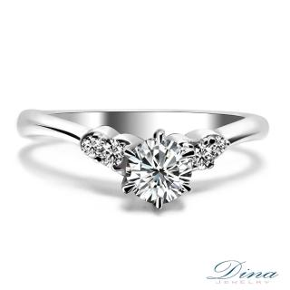 【DINA 蒂娜珠寶】V曲線 GIA 0.31克拉 D/VS2 3EX求婚鑽戒(鑽石戒指 求婚戒指)