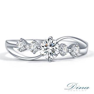 【DINA 蒂娜珠寶】花圈 GIA 0.30克拉 E/SI1 求婚鑽戒(鑽石戒指 求婚戒指)