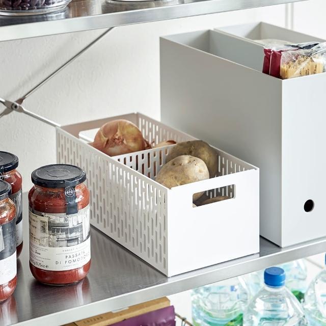 【日本YAMAZAKI】tower可調式儲物籃(白)/