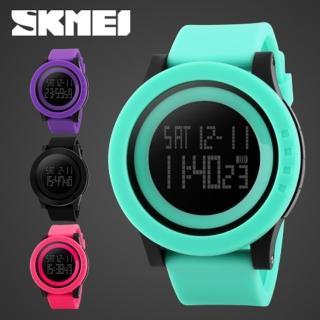 【SKMEI 時刻美】1142 酷炫螢光色大錶盤防水電子錶