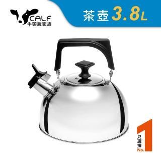 【Buffalo 牛頭牌】304不鏽鋼笛音壺3.8L(煮水壺/燒水壺)