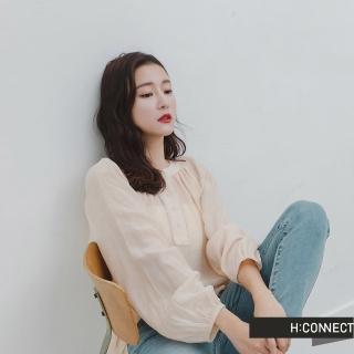 【H:CONNECT】韓國品牌 女裝 -率性大口袋設計襯衫(綠色)