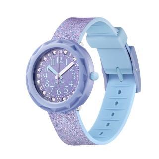 【Flik Flak】兒童錶 LILAXUS 粉紫星星(36.7mm)