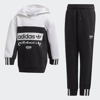 【adidas官方旗艦館】運動套裝 男童/女童(FM7603)