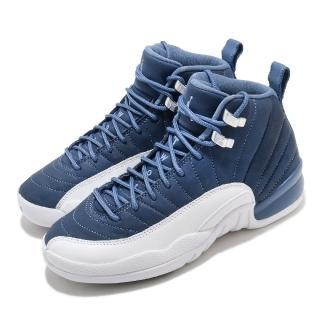 【NIKE 耐吉】籃球鞋 Air Jordan 12 Retro 女鞋 經典款 AJ12 復刻 大童 球鞋 穿搭 藍 白(DB5595-404)