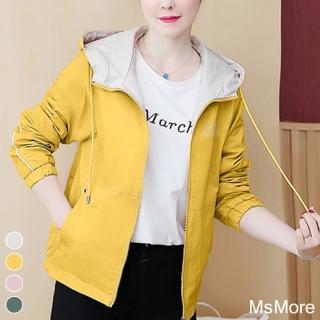 【MsMore】2020初秋全新修身防風輕潑水夾克連帽風衣#107370現貨+預購(4色)