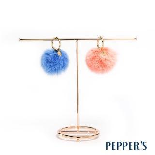 【PEPPER'S】Reese 毛球金屬環吊飾(2色)