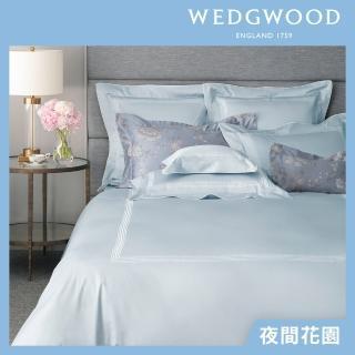 【WEDGWOOD】400織長纖棉刺繡床包被套枕套四件組-三款任選(雙人)/