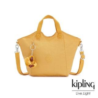 【KIPLING】鮮豔太陽黃輕盈手提斜背包-NORI/