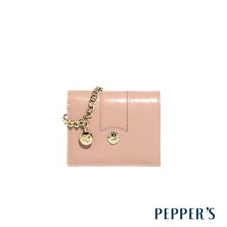 【PEPPER'S】Jolie 牛皮項鍊短夾(玫瑰粉)