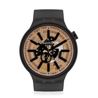 【SWATCH】BIG BOLD系列手錶 DARK TASTE 太陽光譜- 宇宙黑(47mm)