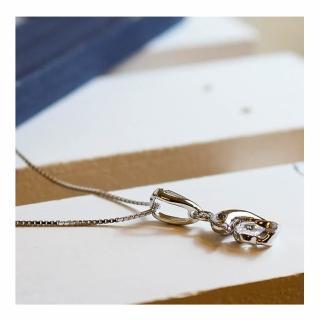 【微笑安安】海豚925純銀精鑲鋯石項鍊