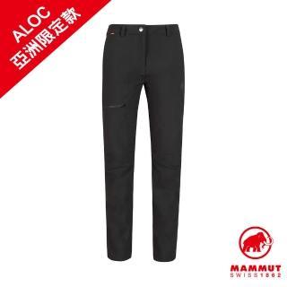 【Mammut 長毛象】Convey Winter Pants AF Women 彈性防潑水軟殼長褲 黑色 女款 #1021-00570