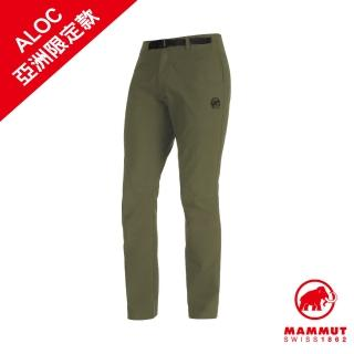【Mammut 長毛象】Convey Pants Men 彈性防潑水長褲 綠鬣蜥 男款 #1022-00371