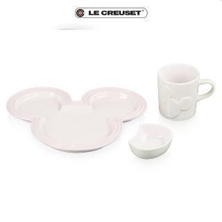 【Le Creuset】餐桌用具套組(迪士尼米奇系列/貝殼粉)