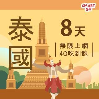 【TEL25】泰國網卡上網卡 8日 4G上網 吃到飽上網SIM卡(不限流量 插卡即用)
