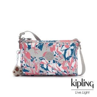 【KIPLING】碰撞魅力潑墨雙內袋斜背小包-MIKAELA