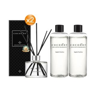【cocodor】室內擴香瓶+補充瓶(2+2任選超值組)/