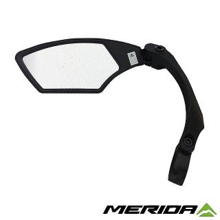 【MERIDA 美利達】自行車後視鏡 可調角度 左側一入(大鏡面/單車/照後鏡/鏡子/安全/車用)