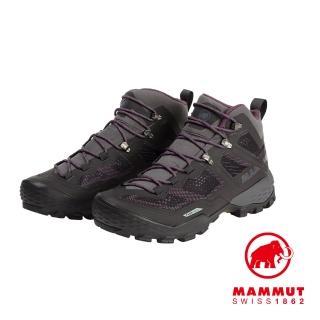 【Mammut 長毛象】Ducan mid GTX 中筒登山健行鞋 女款 幻影黑 #3030-03550