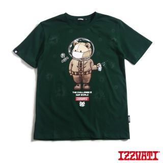 【IZZVATI】防疫熊夜光短T-深綠(手繪夜光短T)