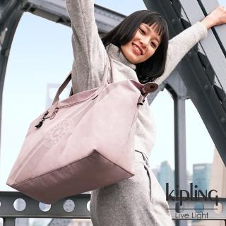 【KIPLING】奶茶裸粉色手提側背包-ART M