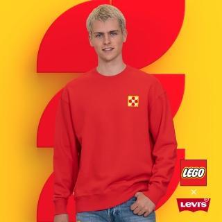 【LEVIS】X LEGO 男款 重磅大學T / 寬鬆休閒版型 / 樂高積木通用軟墊 / 附限定版積木 / 紅