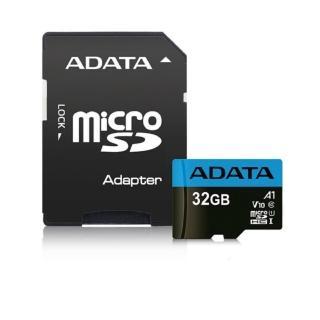 【ADATA 威剛】Premier microSDHC UHS-I 32G記憶卡_A1_附轉卡(5入組)