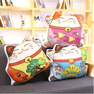 【TDL】招財貓抱枕午安枕靠墊靠枕 45-00162