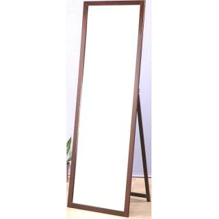 【鏡王之王】高160實木立鏡 全身鏡 穿衣鏡 壁鏡 掛鏡 加掛環可當掛鏡(MR1652-胡桃木色)