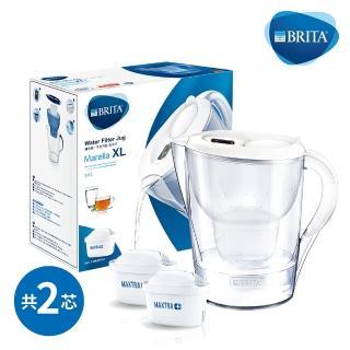 【BRITA】Marella 3.5L馬利拉濾水壺+1入全效型濾芯(共2芯)