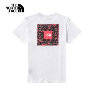 【The North Face】The North Face北女款白色背部印花短袖T恤|5B3LFN4