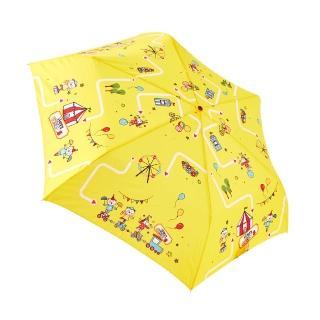 【rainstory】歡樂馬戲團-黃抗UV手開輕細口紅傘/
