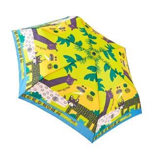 【rainstory】搖滾叢林抗UV手開輕細口紅傘/