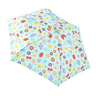 【rainstory】水果花朵-藍抗UV手開輕細口紅傘/