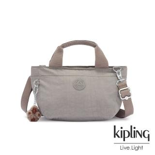 【KIPLING】沉穩時尚灰手提兩用斜背包-SUGAR