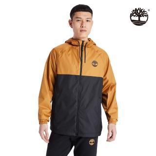 【Timberland】男款小麥黃黑拼接長袖連帽外套(A2CEFP57)