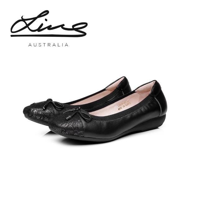 澳洲LINS立體蕾絲輕量真皮機能鞋/